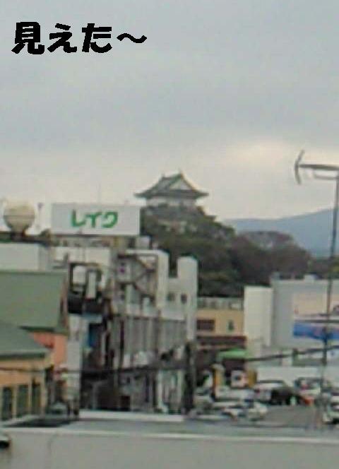 小田原駅から見える小田原城-