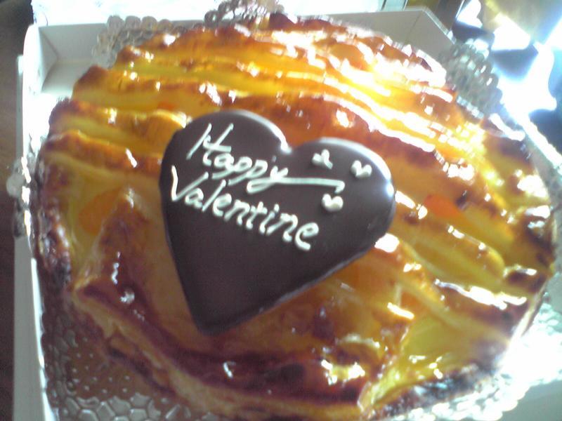 バレンタインデーのクリームパイ