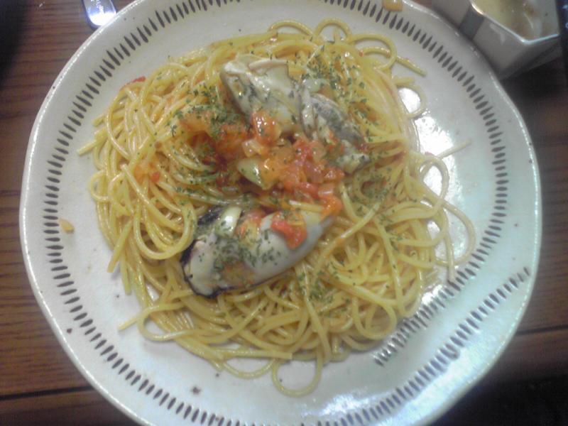 牡蠣のスパゲッティ