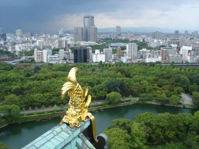 大阪城のカイオーg・・・シャチホコ