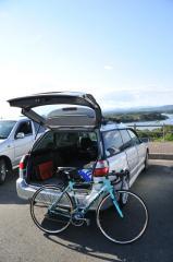 登茂山の駐車場をスタート