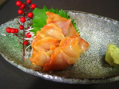 赤貝お刺身1