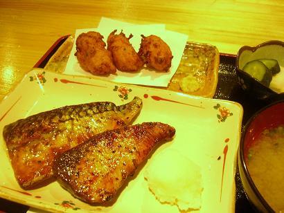 焼き魚定食ブリとサバ (3)