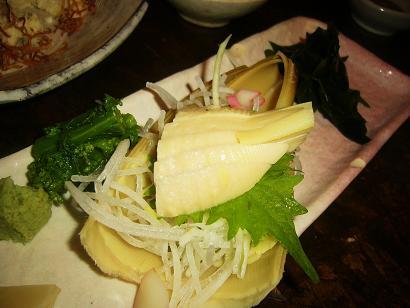 竹の子刺身