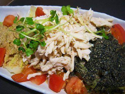 春キャベツと蒸し鶏胡麻サラダ2 (3)