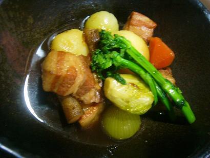 春野菜と角煮6
