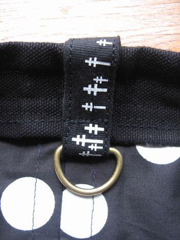 黒の帆布バッグ3(Dカン)