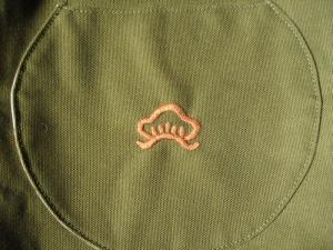 松バッグ刺繍