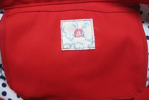赤ビッグトートのポケット