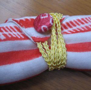 箸袋のボタン