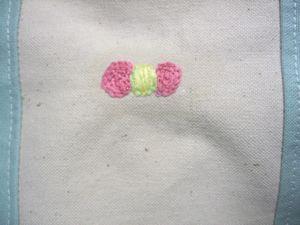 春バッグ4の刺繍