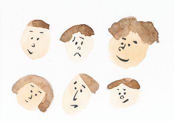 水彩画顔たち