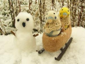 雪だるまさん またね~
