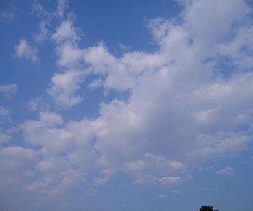 雲もキレー