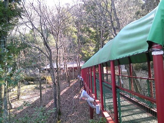露天風呂への橋