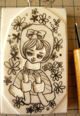 ポーズ人形 冬子2