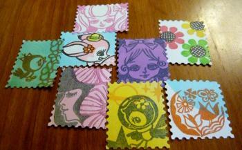 切手シール1