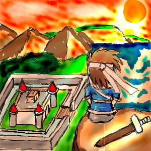 アレックスと夕焼けのポテチ城