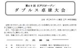 【大会】 江戸川オープンダブルス卓球大会のご案内☆