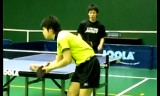 水谷隼と松平健太のサービス&練習風景2009