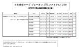 【情報】 JTTLファイナル4がJ-SPORTSでLIVE放送決定!