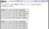 【情報】 J-SPORTSでジャパントップ12卓球大会を放送