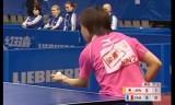 【卓球】 平野早矢香のロビング打ちを見てみよう