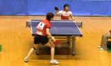 【卓球】 松平志穂VS高瑜瑶4/6 東京選手権2012女子
