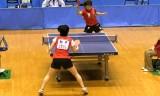 【卓球】 松平志穂VS高瑜瑶3/6 東京選手権2012女子