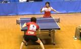 【卓球】 松平志穂VS高瑜瑶6/6 東京選手権2012女子