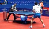 張継科の試合前の多球練習 世界卓球2012