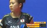 【卓球】 日本VSセルビア 世界卓球2012 女子第2戦