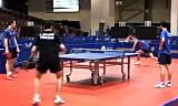 【卓球】 フランス選手団の事前練習 世界卓球2012