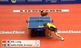 【卓球】 馬龍VSカールソン(スウェーデン) 世界卓球2012
