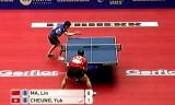 【卓球】 馬琳(中国)VS張ユック(香港) 世界卓球2012