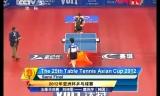 【卓球】 劉詩文VS唐汭序(韓国) アジアカップ2012