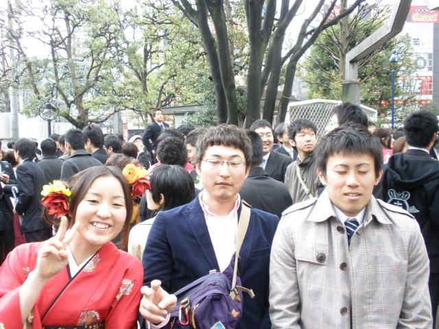 卒業生と上倉