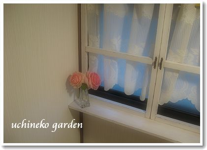 階段の窓際