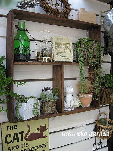 飾り棚&板壁
