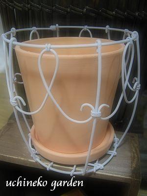 ワイヤーミニ鉢カバー