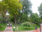 図書館前の風景