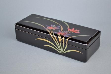 蒔絵オルゴール(紫蘭)