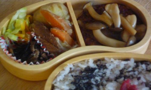 お弁当-たかきびハンバーグ300