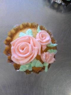 カップケーキばら