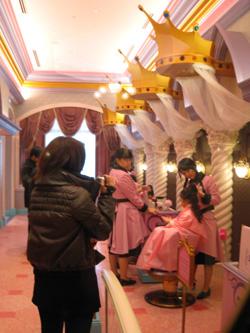 ホテル内の美容室