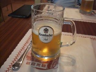 生ビールはうまい!