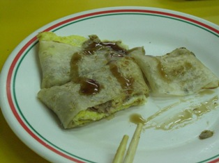 台湾の朝食(鮪魚蛋餅)
