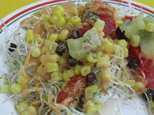 台湾の朝食(サラダ)