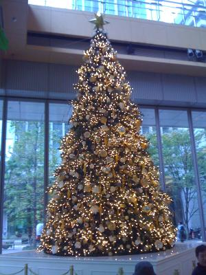Christmas tree at Maru Buildg.