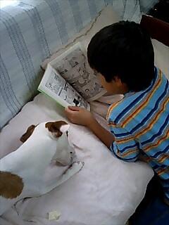 一緒に本を読んだり